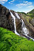 Siklawa waterfall in Five Ponds Valley, Tatra Mountains, Zakopane, Poland