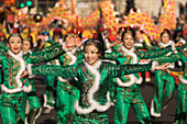 Chinese New Year, Chinese dancing girls, London, UK, England