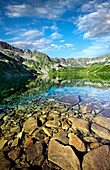 Lake scenery in Five Ponds Valley, Tatra Mountains, Poland