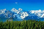 Snowy mountainscape, Tatra Mountains, Poland