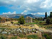 The Tetrapylon and surrounding scenery, Aphrodisias, Aegean, Turkey