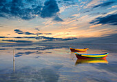 Colourful boats on sea at sunset, Abstract, Specials