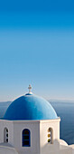 Typical blue domed church, Oia, Santorini Island, Greek Islands