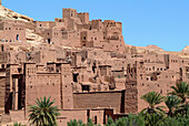 Detailed view of the kasbah, Ait Benhaddou, Atlas Mountains, Morocco