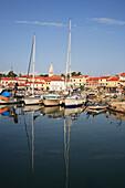 View of harbour, Novigrad, Istria, Croatia