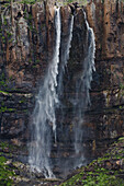 View at waterfall Cascada el Escobar, El Risco valley, Parque Natural de Tamadaba, Gran Canaria, Canary Islands, Spain, Europe