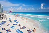 Chac-Mool beach, Cancun, State of Quintana Roo, Peninsula Yucatan, Mexico
