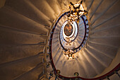 Steps of the staircase in Duino castle, Trieste, Friuli-Venezia Giulia, Upper Italy, Italy