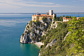 Duino castle on the coast north of Trieste, Friuli-Venezia Giulia, Upper Italy, Italy
