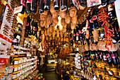 Interior view of a delicatessen and speciality shop at Palma, Mallorca, Spain, Europe