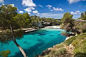 Bay of Cala Llombards in the sunlight, Mallorca, Balearic Islands, Spain, Europe