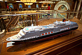Model of the cruise liner Queen Victoria