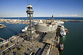 Barcelona, Boat, Buildings, City, Cityscape, Outdoor, Port, Sea, Seaport, Ship, Skyline, Tower, Water, C41-829604, agefotostock