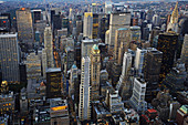 Midtown,  from the top of the Empire State Building,  Manhattan,  New York City. USA