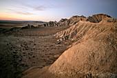 Erosion at Bardenas Reales Natural Park,  Navarra,  Spain