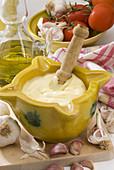 Spanish Cuisine Alioli Garlic mayonnaise
