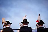 Brass band, Midsummer Festival, Munsing, Bavaria, Germany