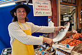 The Fish Seller Alain, Fish Market, Trouville-Sur-Mer, Calvados (14), Normandy, France