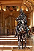 Bronze Equestrian Statue, Louis Xiv On Horseback, Chateau De Maintenon, Eure-Et-Loir, France