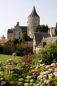 The Chateau'S Keep Built In 1180, Considered The First Chateau Of The Loire, And The Gardens Of The Hotel Dieu, Eure-Et-Loir (28), France