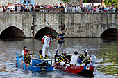 Water Jousting On The Eure The Day Of The Water Festival In Chartres, Eure-Et-Loir (28), France