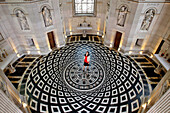 The Ornamental Tiling In Precious Marble Reproduces Exactly The Design In Projection Of The Coffered Ceiling Of The Dome And The Rosace In The Center Corresponds To The Lantern, Interior Of The Chapel At The Chateau D'Anet, Built In 1550 By Philibert De L