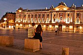 Town Hall At Nightfall, Place Du Capitole, Toulouse, Haute-Garonne (31), France