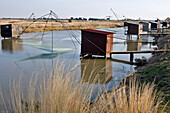 Fisherman'S Cabins For Plaice Fishing, Ile De Noirmoutier, Vendee (85), France
