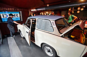Driving Simulator Of A Trabant, Ddr Museum, Devoted To The Daily Life Of Ex-East Berliners: From Vacations On The Baltic To The Housewife'S String Bag, Without Forgetting The Stasi'S Phone Tapping System, Berlin, Allemagne