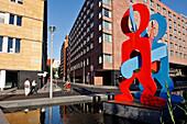 Boxer Sculpture, Keith Haring, Potsdamer Platz, Berlin, Germany