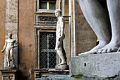 Matei, 32 Via Caetani, Inner Courtyard With A Collection Of Roman Busts, Statues And Bas-Reliefs, Rome, Italy