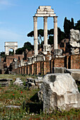 Basilica Julia, Temple Of Castor And Pollux And Arch Of Titus, Foro Romano, Roman Forum, Rome