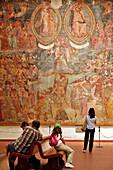 Fresco The Triumph Of Death (Trionfo Della Morte), Hell (L'Inferno), Camposanto Monumentale, Medieval Cemetery Created In 1278, Campo Dei Miracoli, Pisa, Tuscany, Italy