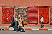 Rug Seller, Street Scene, Marrakech, Morocco, Maghrib, North Africa