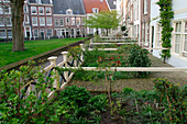 Garden Of The Houses In The Begijnhof Neighbourhood, Amsterdam, Netherlands