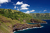 Jagged Coast On The Eastern Slope Of The Island Of Hiva Oa, Marquesas Islands, French Polynesia