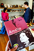 Book About Amalia Rodrigues, Well-Known Fado Singer, Gift Shop At The Casa-Museu Do Fado E Da Guitarra Portuguesa, The Fado And Portuguese Guitar Museum Of Lisbon, Portugal, Europe