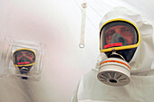 Radiological Protective Uniform, Airlock For Victim Decontamination, European Exercise Of Crisis Management In Belval, Luxembourg, Eurolux 2007