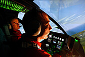Training Pilots Of The Emergency Services In A Flight Simulator Of The Ec145 Helicopter, Developed By The Thales Corporation, Command Base Of The Helicopter Group Of The Emergency Services, Nimes Garons, Gard (30), France