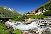 Stream Zemmbach near hut Berliner Huette, Zillertal, Zillertal Alps, Tyrol, Austria