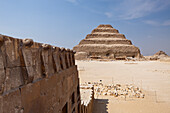 Cobra Relief and Saqqara Step Pyramid of Pharaoh Djoser, Egypt, Saqqara
