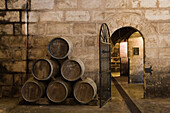 Cellar of Bodegues Santa Catarina Winery, near Andratx, Mallorca, Balearic Islands, Spain, Europe