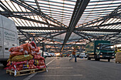 vegetables, onions, wholesale market hall in Hanover, Germany