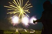 Fireworks, Great Garden, Herrenhausen Gardens, Hanover, Lower Saxony, Germany