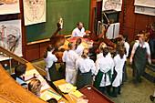 Anatomy lesson at the University of Veterinary Medicine, TiHo, Hanover, Lower Saxony, Germany