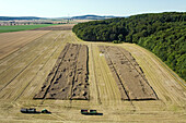 aerial view of fields, region Hanover, Lower Saxony, northern Germany