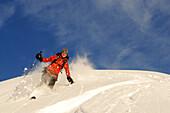 Ski touring, Grosser Jaufen, Pragser Tal, Hochpustertal, Alto Adige, Italy