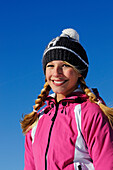 Blond Woman in winter clothing, Germany, model released