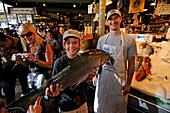 Fish market,  Pike Place Market, Seattle, USA