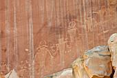 Rock painting, Fremont Culture, Capitol Reef National Park, Utah, USA